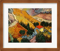 Landscape with House and Ploughman, 1889 Fine-Art Print