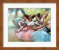 Four ballerinas on the stage Fine-Art Print