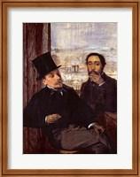 Self Portrait with Evariste de Valernes Fine-Art Print