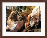 Lion Hunt Fine-Art Print