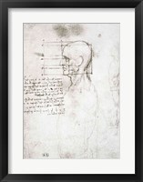 Head of an Old Man in Profile Fine-Art Print