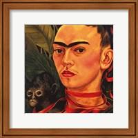 Self Portrait with a Monkey, 1940 (detail) Fine-Art Print