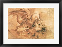 Fight between a Dragon and a Lion Fine-Art Print