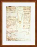 Studies of the Illumination of the Moon 1r from Codex Leicester Fine-Art Print