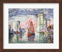 The Port at La Rochelle, 1921 Fine-Art Print