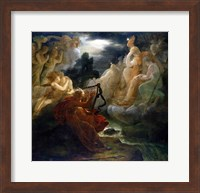 On the Bank of the Lora, Ossian Conjures up a Spirit with the Sound of his Harp, c.1811 Fine-Art Print