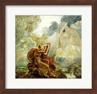 Ossian Conjures Up the Spirits with His Harp on the Banks of the River of Lora Fine-Art Print
