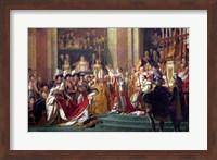 The Consecration of the Emperor Napoleon I Detail Fine-Art Print