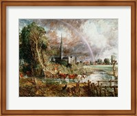 Salisbury Cathedral From the Meadows, 1831 Fine-Art Print