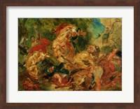 Study for The Lion Hunt, 1854 Fine-Art Print