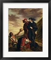 Hamlet and Horatio in the Cemetery, from Scene 1, Act V of 'Hamlet' Fine-Art Print