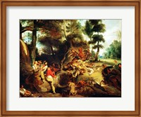 The Wild Boar Hunt Fine-Art Print