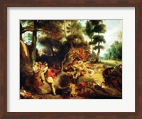 The Wild Boar Hunt Fine-Art Print