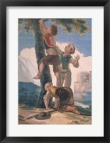 Boys Climbing a Tree Fine-Art Print