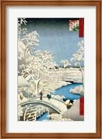 Drum bridge and Setting Sun Hill at Meguro Fine-Art Print