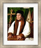 Portrait of William Warham  Archbishop of Canterbury, 1527 Fine-Art Print