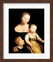 The Artist's Wife and Children, 1528 Fine-Art Print