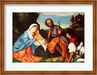 The Holy Family and a Shepherd Fine-Art Print
