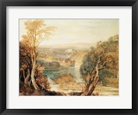 The River Wharfe with a distant view of Barden Tower Fine-Art Print