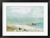 Beach with figures and a jetty. c.1830 Fine-Art Print