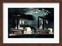 Midnight Race on the Mississippi Fine-Art Print
