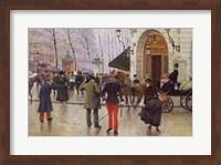The Boulevard des Capucines and the Vaudeville Theatre, 1889 Fine-Art Print
