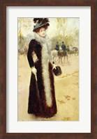 A Parisian Woman in the Bois de Boulogne Fine-Art Print
