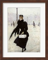 Parisian woman in the Place de la Concorde Fine-Art Print