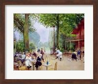 The Chalet du Cycle in the Bois de Boulogne, c.1900 Fine-Art Print
