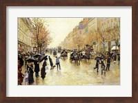Boulevard Poissonniere in the Rain Fine-Art Print
