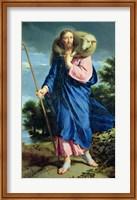 The Good Shepherd walking Fine-Art Print