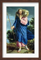 The Good Shepherd walking Fine-Art Print