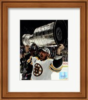 Brad Marchand with the Stanley Cup  Game 7 of the 2011 NHL Stanley Cup Finals(#47) Fine-Art Print