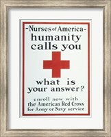 Nurses of America Humanity Calls You Enroll now with the Red Cross Fine-Art Print