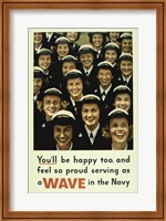 Serving a Wave in the Navy Fine-Art Print