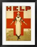 Help, Red Cross Nurse Fine-Art Print