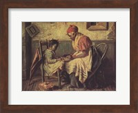 Playing Checkers Fine-Art Print