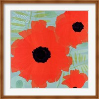 Collection of Poppies on Blue Fine-Art Print