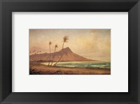 Gideon Jacques Denny - 'Waikiki Beach', oil on canvas, 1868 Fine-Art Print
