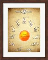 Yoga Cow Sun Salutation Fine-Art Print