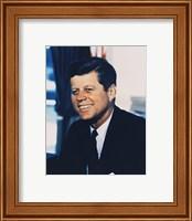 John F. Kennedy, White House Color Photo Portrait Fine-Art Print
