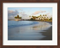 Waikiki Beach And Palm Trees Fine-Art Print