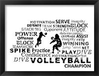 Volleyball Text Fine-Art Print