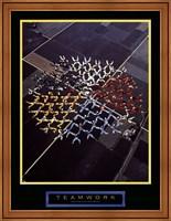 Teamwork - Skydivers Fine-Art Print
