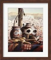Southwest Pottery with Corn Fine-Art Print