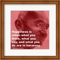 Gandhi - Happiness Quote Fine-Art Print