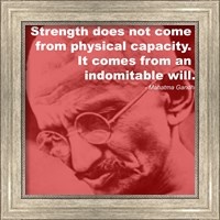 Gandhi - Strength Quote Fine-Art Print