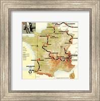 Tour de France 1992 map Fine-Art Print