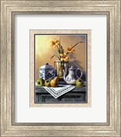 Country Tea Set with Yellow Lilies Fine-Art Print