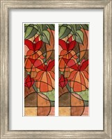 2-Up Stain Glass Floral I Fine-Art Print